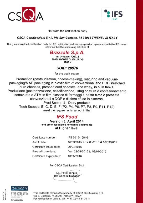 certificato-brazzale-ifs-MMalo-13-05-2016