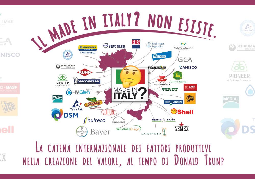 Il Made in Italy? Non esiste.