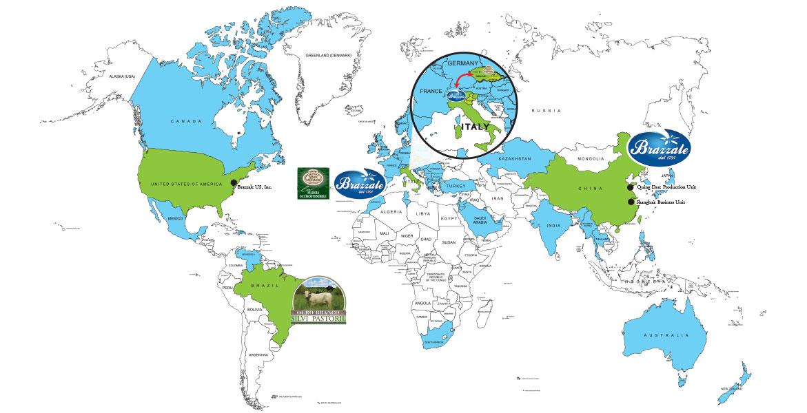 mappa Brazzale nel mondo
