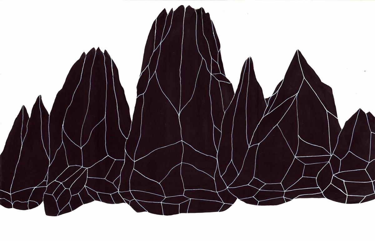 Andreco, Lavaredo. Acrilico su carta, 70x50 cm, 2018