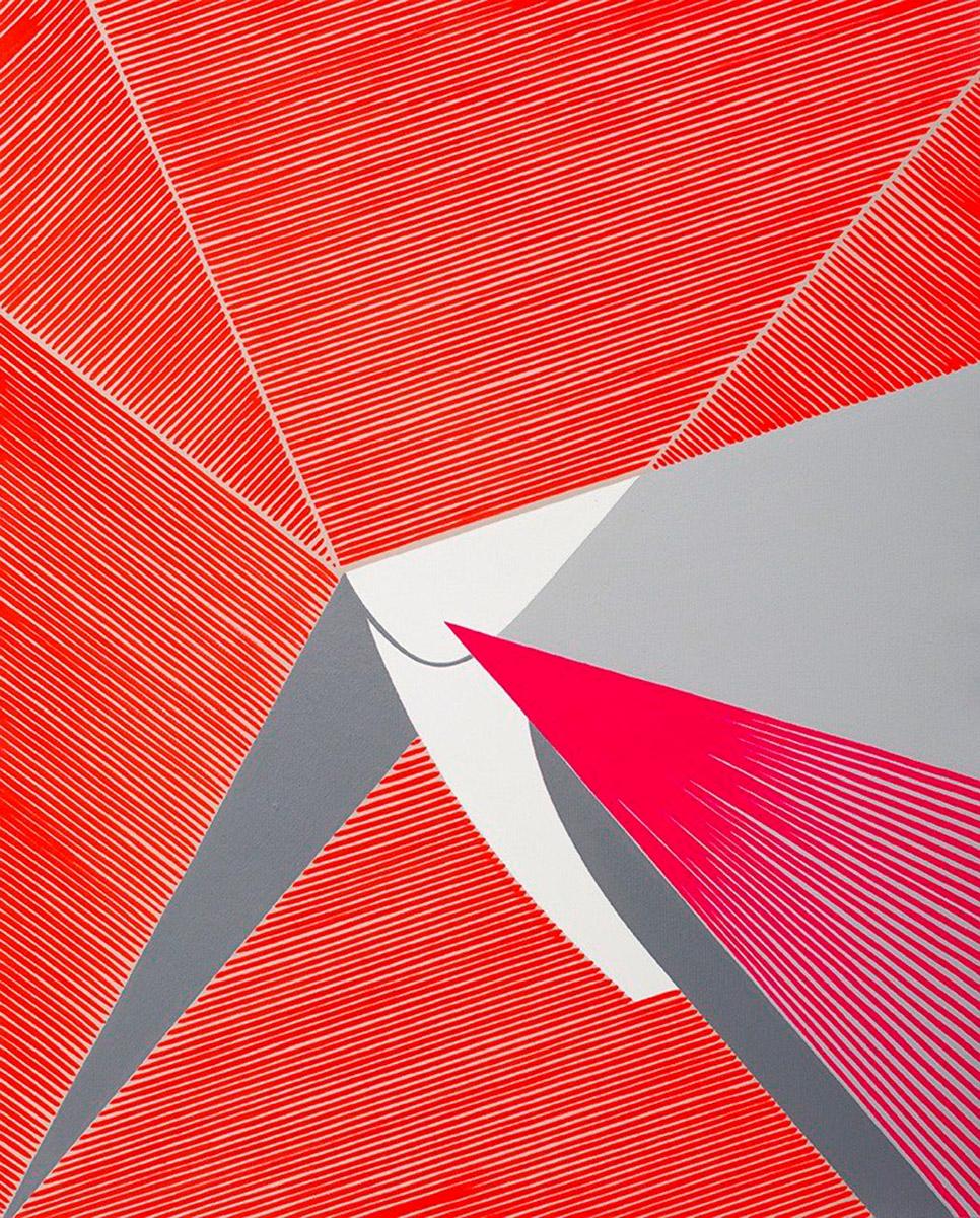 Ester Grossi, Urlo di colore. Acrilico su tela, 47x38 cm, 2018