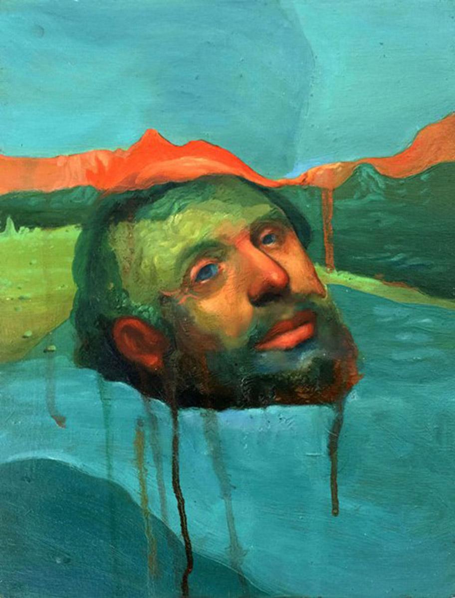 Giorgio Pignotti, Cefaloforo (Sant'Emidio). Olio su tavola, 150x110 cm, 2018