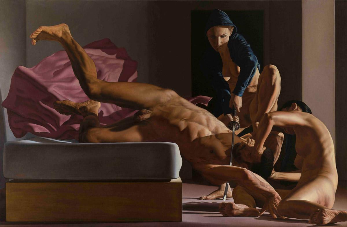Nicola Verlato, Judith. Olio su tela, 110x170 cm, 2018