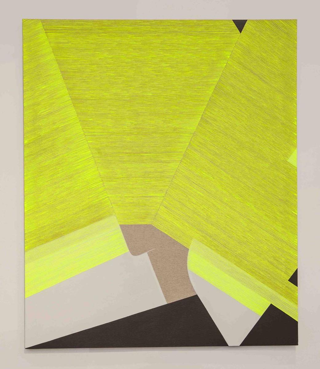 Ester Grossi, Giallo coprente. Acrilico su tela, 120x100cm, 2019.
