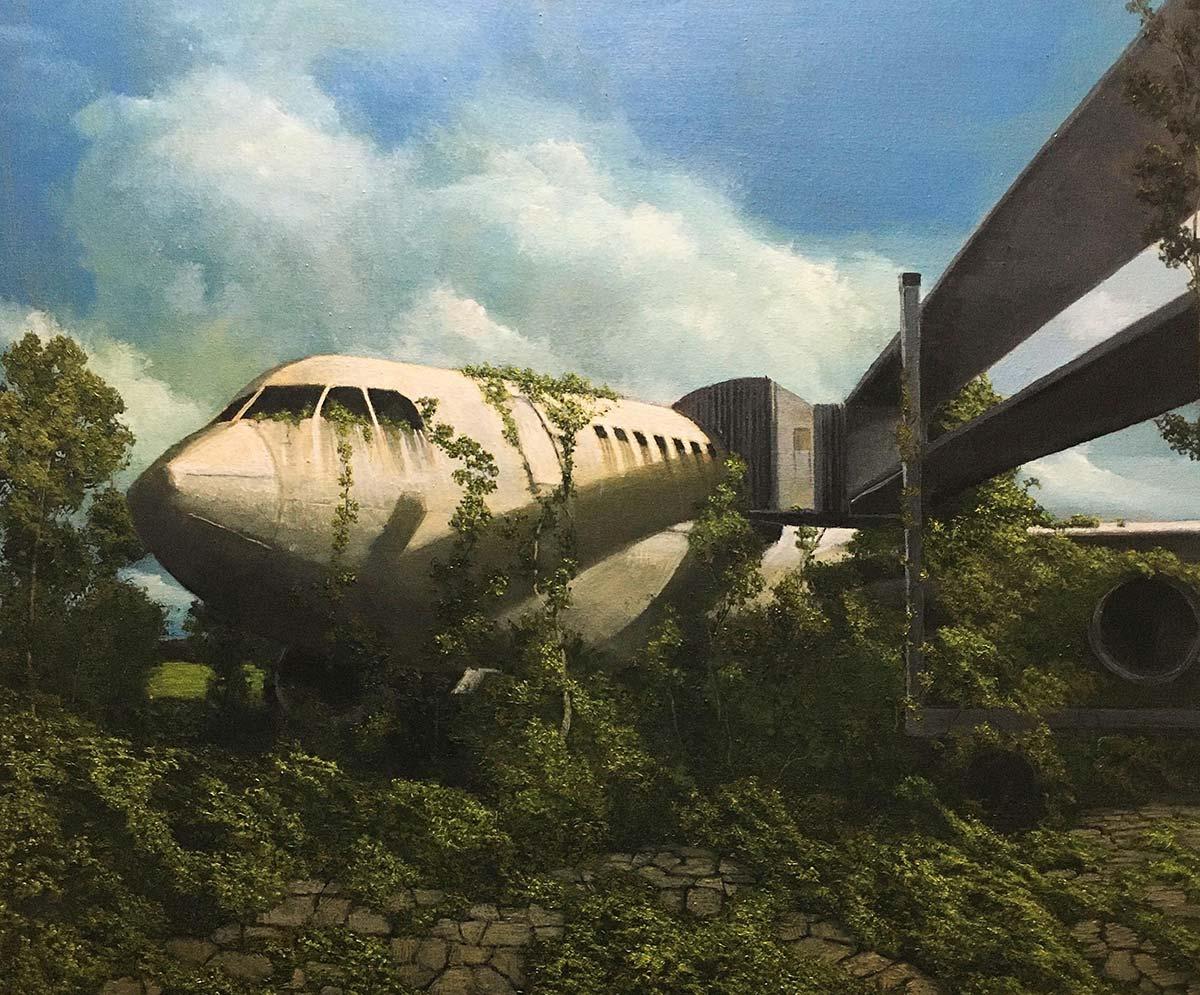 Massimiliano Alioto, Decadence. Olio su tela, 80x70 cm, 2020