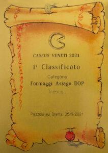 2021 - CASEUS VENETI - Asiago DOP - 1° classificato