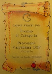 2021 - CASEUS VENETI - Provolone Valpadana DOP Piccante - Premio di categoria